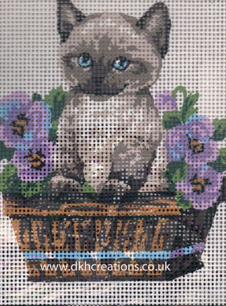 Cat In Flowerpot Tapestry Kit